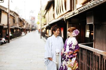 福井県からお越し頂いた新郎新婦さまの和装フォトウェディングのご紹介【有名観光地京都祇園】