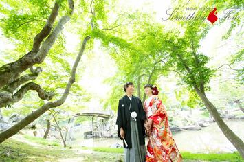 京都府立植物園での和装フォトウェディングのご紹介【色打掛】