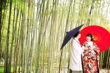 京都の有名観光地嵐山での和装前撮りフォトウェディング【竹林の小径 祇園白川】