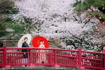 福井県からお越し頂いたカップルの洋装和装ロケーションフォトのご紹介。