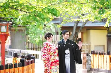 [和装ロケーション]京都で国際結婚カップルの前撮り
