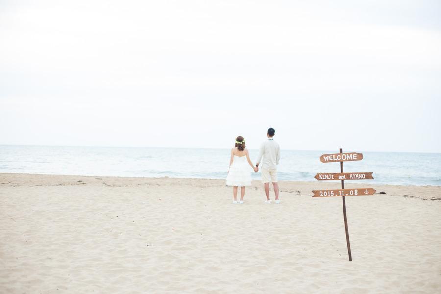 砂浜での撮影