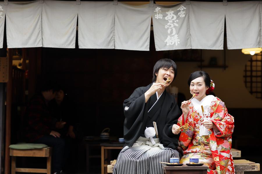 京都今宮神社あぶり餅