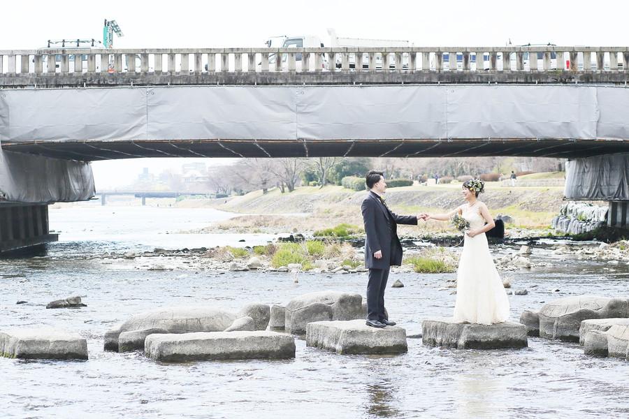 京都鴨川の飛び石