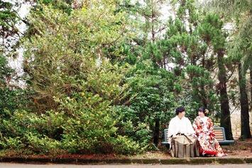京都府立植物園でのプレウェディング 京都ブライダルフォトワークス
