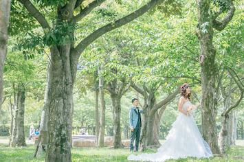 福井県のお客様歓迎!新緑ドレス撮影in神戸しあわせの村