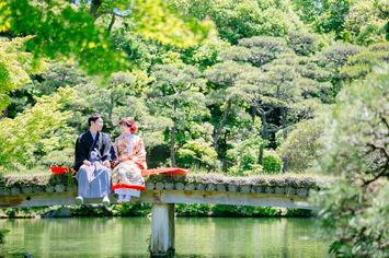 福井のお客様大歓迎!新緑の中で和装フォトin神戸