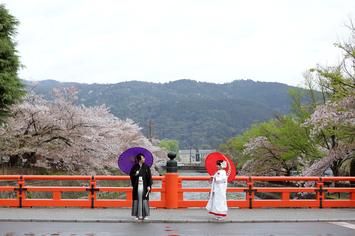 [京都]和装で桜フォトウェディング